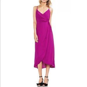 Vince Camuto | Soft Texture Faux Wrap Midi Dress